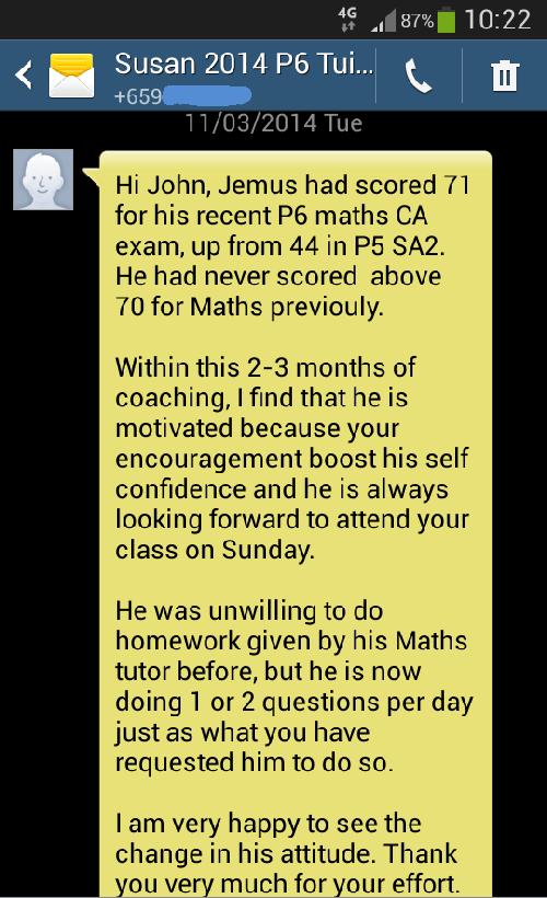 John always does his homework